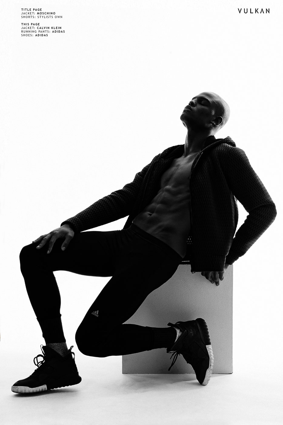 Vulcan Magazine Dark Light Isaiah Hamilton, RED Model Management